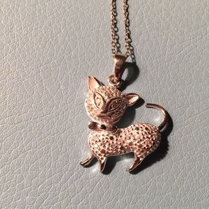 Jewelry - Sterling cat necklace
